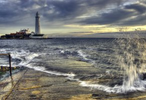 st marys lighthouse,башня,маяк,north east england