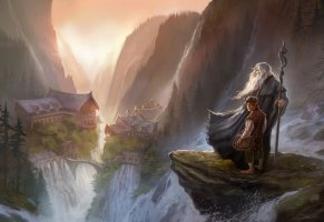 gandalf,the hobbit,rivendell,an unexpected journey,гэндальф,арт,хоббит