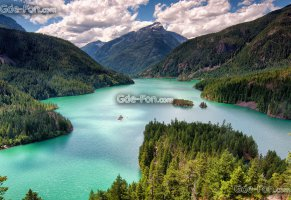 штат вашингтон,washington,озеро,горы,diablo lake,north cascades,озеро дьявола,северные каскадные горы,лес