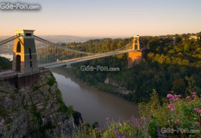 river avon,цветы,bristol,клифтонский мост,англия,река,avon gorge,бристоль,мост,england,clifton,эйвонское ущелье,река эйвон,клифтон,панорама,clifton suspension bridge