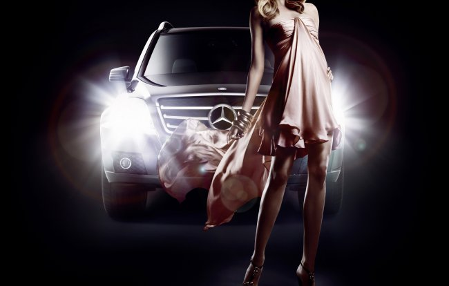 mercedes-benz,fashion,eva padberg,glk