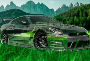 green,nature,style,авто,r35,grass,ниссан,tuning,машина,photoshop,прозрачное,gtr,el tony cars,mountains,35 кузов,nissan,jdm,design,зелена,прозрачная,hd wallpapers,art,car,japan,фотошоп,тони кохан,природа,crystal,tony kokhan,гтр