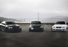 m3,e92,bmw,black,330i,e90,matte black,golden gate,white