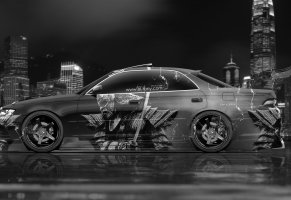 японец,black,tony kokhan,тюнинг,side,jzx90,авто,aerography,вид сбоку,style,white,tuning,mark2,wallpapers,photoshop,марк2,аэрография,el tony cars,toyota,jdm,design,samurai,silver,art,japan,фотошоп,city,тони кохан,тойота,самурай